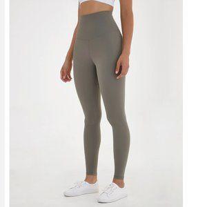 Pants - High Waisted Sage Green Leggings